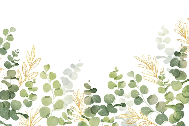 Creative watercolor leaves background