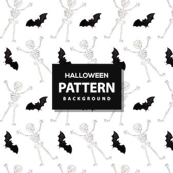 Creative watercolor pattern halloween background