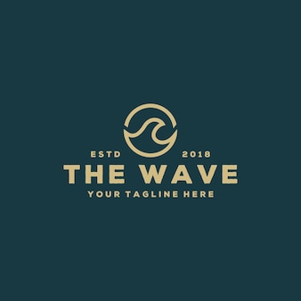 Creative the wave logo design