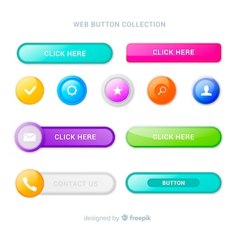 Creative web buttons in gradient style