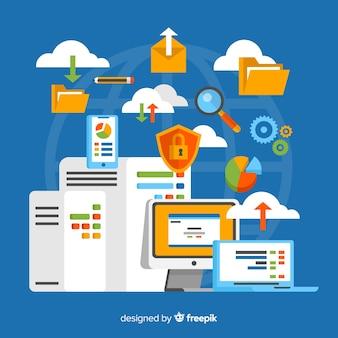 창의적인 웹 호스팅 개념