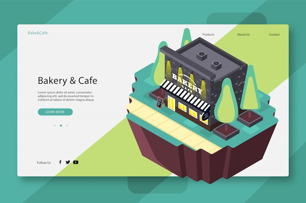 Creative web page template