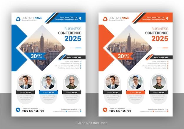 Creative webinar or conference flyer design template