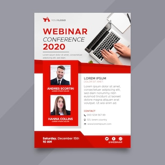 Creative webinar flyer template