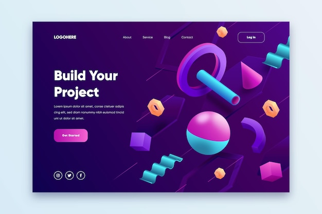 Creative website landing page template