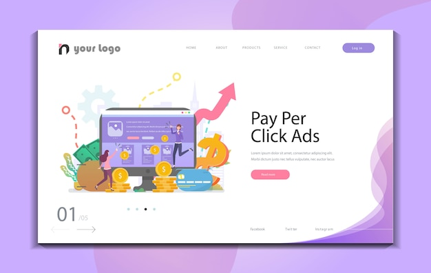 Creative website template designs