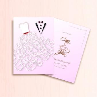 Creative wedding invitation card template design