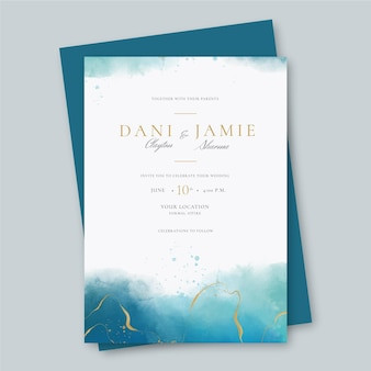 創造的な結婚式の招待状のテンプレート