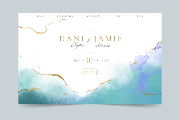 Creative wedding landing page