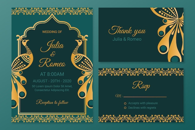 Creative wedding stationery for indian couple