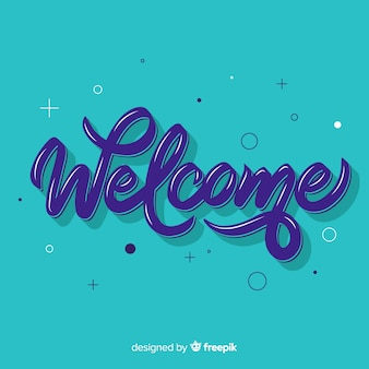 Creative welcome lettering concept