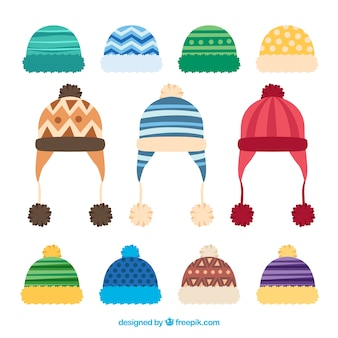 Creative winter cap collection