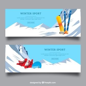 Творческие зимние спортивные баннеры
