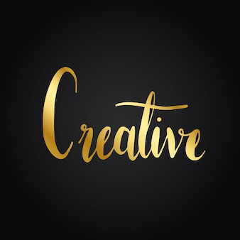Creative wording typography style vector