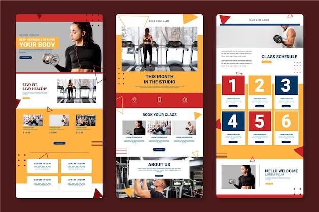 Modello di email di allenamento creativo