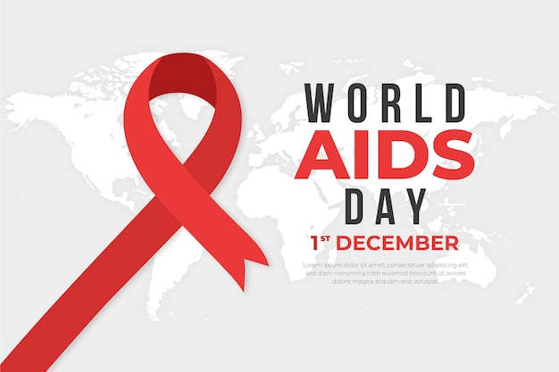Creative world aids day illustrated wallpaper