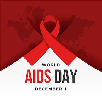 Creative world aids day illustration