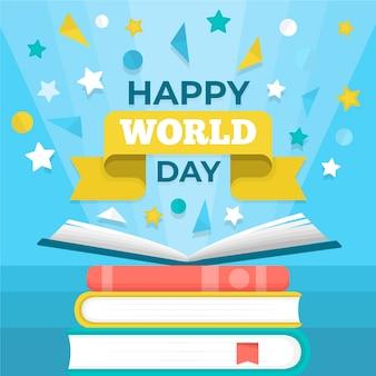 Creative world book day background