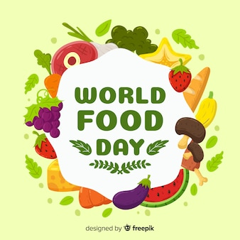 Creative world food day background