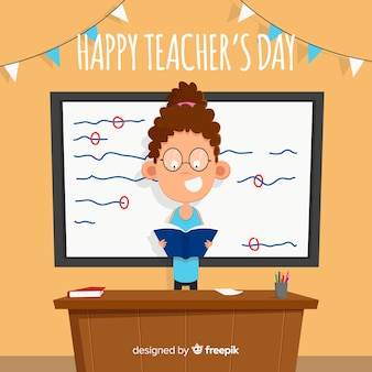 Creative world teachers day background design