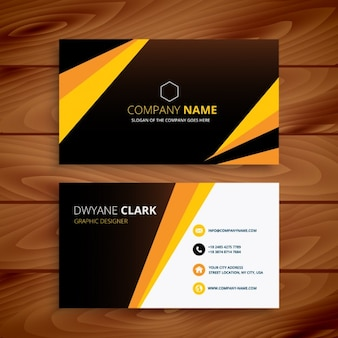 Creative yellow and black business card
