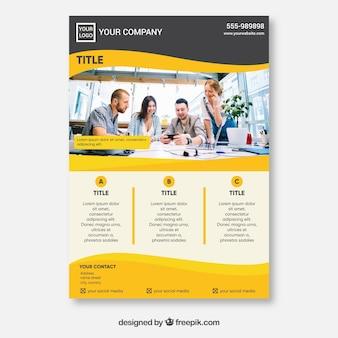 Creative yellow flyer concept