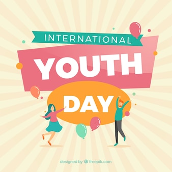 Creative youth day background