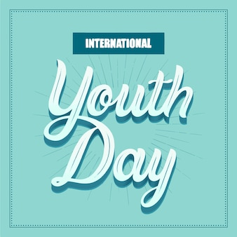 Creative youth day lettering