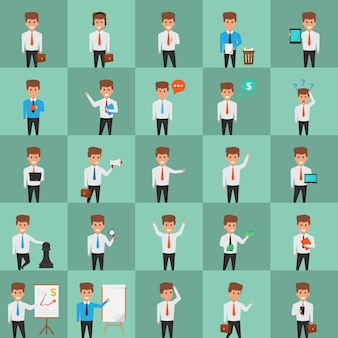 Creatively designed office character illustrations