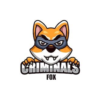 범죄자 여우를위한 크리에이티브 마스코트 로고