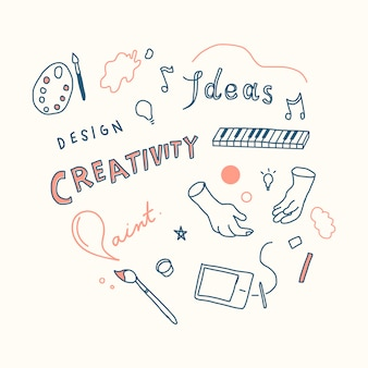 Creativity and innovation concept illustration