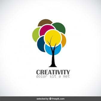 Creativity logo with colorful tree