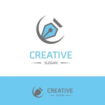 Creativity logo with a pen