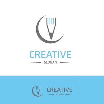 Creativity logo with a pencil