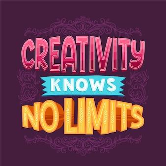 Creativity no limits famous design lettering