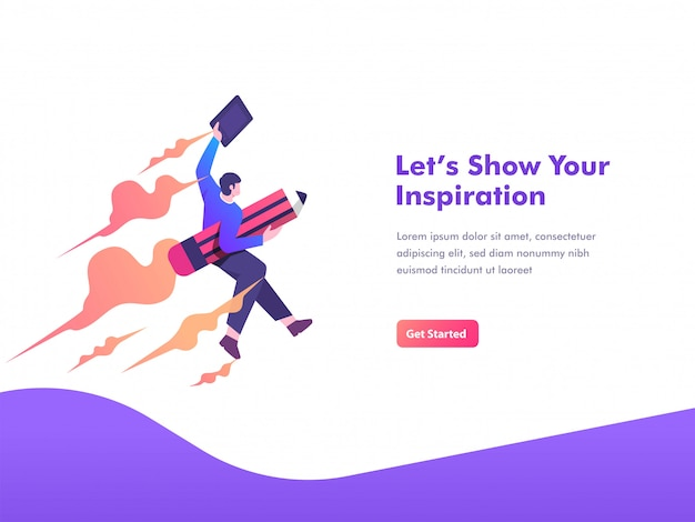 Creator skill up and art exploration concept landing page