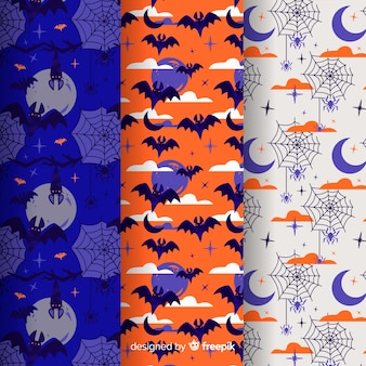 Creatures of the night halloween pattern collection