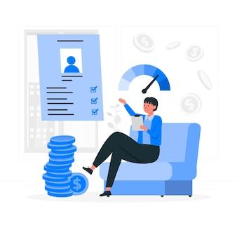 Credit assesment concept illustration