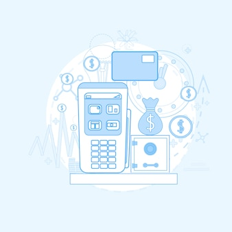 Credit card banking nfc terminal checkout