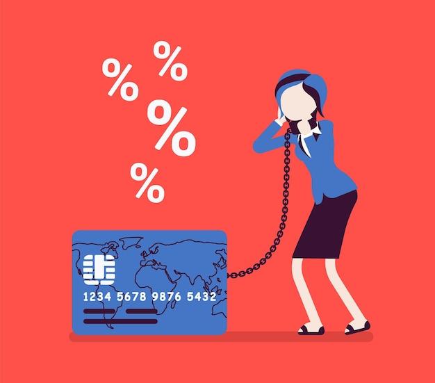 Проблема с процентной ставкой кредитной карты-женщины-держателя карты