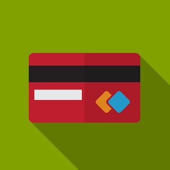 Credit card flat icon illustration isolated vector sign symbol