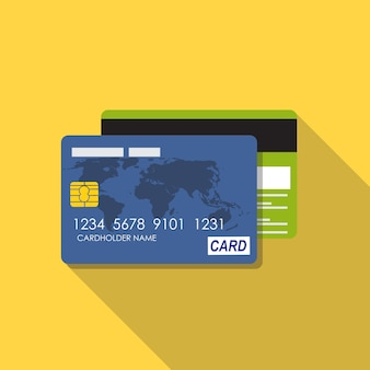 Credit card icon flat concept vector illustration. eps10