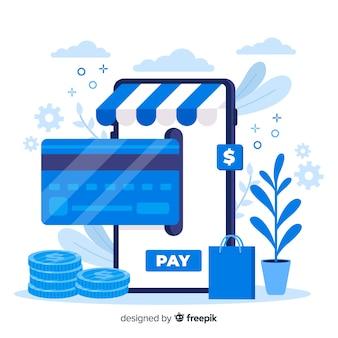 신용 카드 방문 페이지 결제 개념 무료 벡터