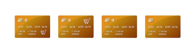 Credit card mock up, credit card paywave, shopping car,
