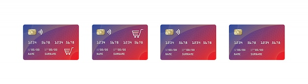 Credit card mock up, credit card paywave, shopping car,