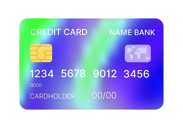 추상적인 디자인으로 신용 카드 여러 가지 빛깔의 템플릿 벡터