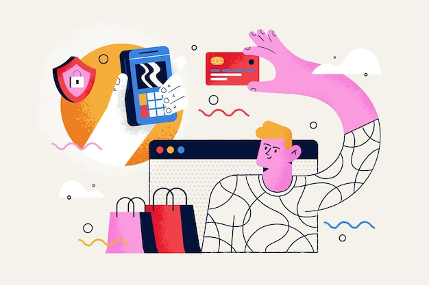 Концепция оплаты кредитной картой для целевой страницы