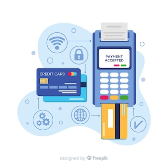 Credit card payment concept for landing page Premium Vector