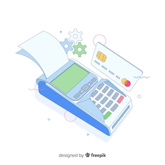 Credit card payment concept for landing page