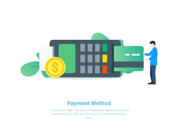 Credit card payment method illustration